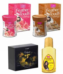 St.john-vijohn Feather Touch Hair Removal Cream (rose & Sandal) 40gm & Perfume Eclips 50ml & Almond Hair Oil 50ml-(code-vj485)