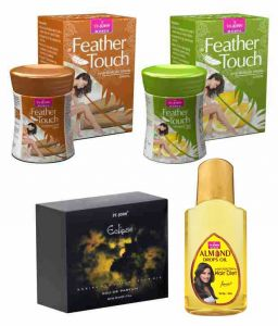 St.john-vijohn Feather Touch Hair Removal Cream (lime & Sandal) 40gm & Perfume Eclips 50ml & Almond Hair Oil 50ml-(code-vj487)
