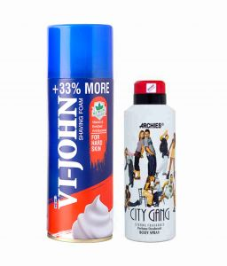Benetton,Wow,Gucci,Globus,Archies Personal Care & Beauty - Archies  Deo City Gang & Vijohn Shave Foam 400GM for Hard Skin-(Code-VJ766)