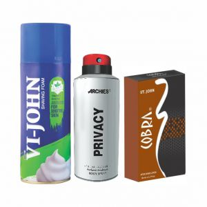 Nike,Jovan,Adidas,Aveeno,Ag,Archies Personal Care & Beauty - Archies  Deo Privacy & Vijohn Shave Foam 400GM for Sensitive Skin & After Shave Cobra-(Code-VJ815)