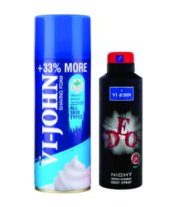 St.john-vijohn Shave Foam 400gm For All Type Of Skin & Vijohn Deo Night-(code-vj86)