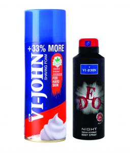 St.john-vijohn Shave Foam 400gm For Hard Skin & Vijohn Deo Night-(code-vj90)