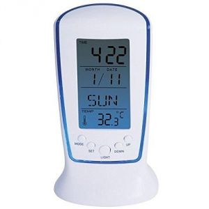 Square Digital Alarm Temperature Calender Table Clock 510
