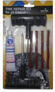 Fire Storm Car Bike Auto Tubeless Tyre Puncture Plug Repair Kit - Easy To Use