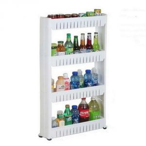 Bathroom Essentials - Multipurpose Removable 4 Layer Plastic Storage Rack Kitchen & Bath