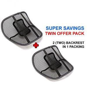 Car utilities - Set Of 2 Car Seat Massage Chair Back Lumbar Support Mesh Ventilate Cushion