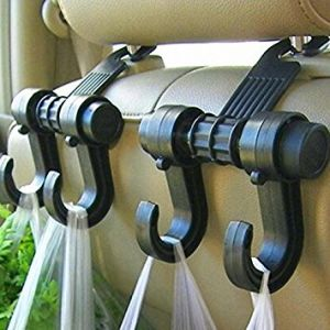 Car Accessories (Misc) - Car Vehicle Seat Headrest Bag Hanger Hook Holder Black