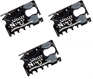 Set Of 3 Magic Ninja Wallet Swiss Card 18 In 1 Tool