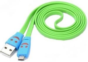 Trioflextech USB Smiley Lightening Data Cable Green