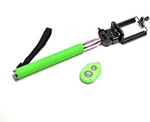 Trioflextech Bluetooth & Remote Selfie Stick- Green