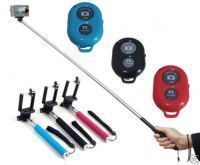 Millennium Extendable Self Portraits Selfie Stick Handheld Monopod With Bluetooth Shutter