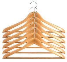 Home Basics Buy Set Of 24 Wooden Hanger Get 6 PCs Free