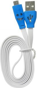 Trioflextech USB Smiley Lightening Data Cable White