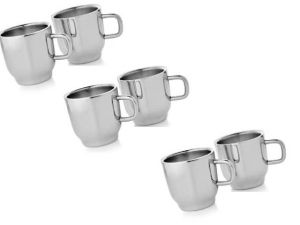 Dynamic Store Set Of 6 Double Wall Classic Cups - Ds_106