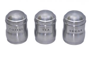 Dynamic Store Set Of 3 Tea, Coffee And Sugar Maharaja Canisters - Ds_133