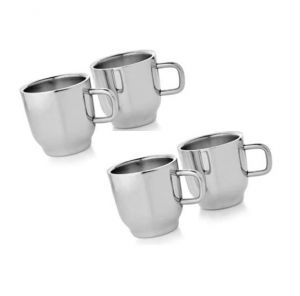 Dynamic Store Set Of 4 Double Wall Classic Cups - Ds_151