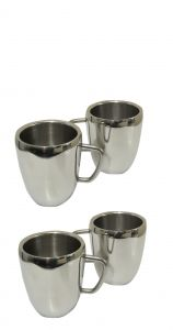 Dynamic Store Set Of 4 Double Wall Apple Mugs - Ds_158