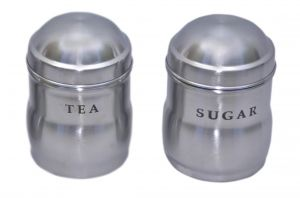 Dynamic Store Set Of 2 Tea And Sugar Maharaja Canisters - Ds_196