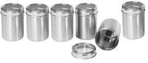 Dynamic Store Set Of 6 See Through Canister Diameter - Size 13 Each - Ds_276