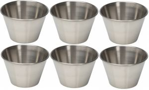 Dynamic Store Set Of 6 Sauce Cup - 75 Ml Each - Ds_278