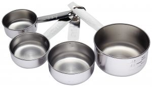 Dynamic Store Matte Finish Heavy Gauge Stainless Steel Set Of 4 Measuring Cups - Ds_35