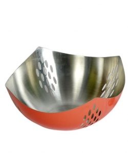 Dynamic Store Stainless Steel Red Warm Fruit Basket - Ds_414