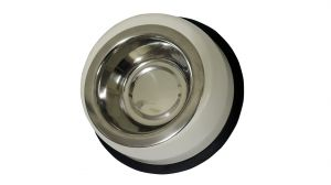 Stainless Steel Pet Bowl Cream