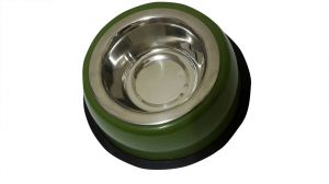 Stainless Steel Green Pet Bowl