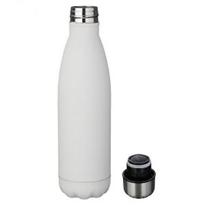 Cola Vaccum Steel Water Bottle White