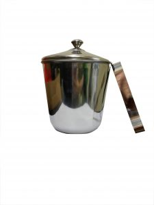 Bar Accessories - Set of 2 India Bucket with lid & Ice Tong