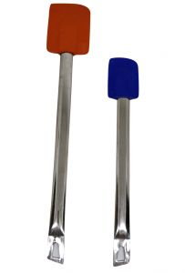 Set Of 2 Silicone Spatula With Steel Handle