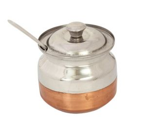 Stainless Steel Ghee Pot With Copper Bottom