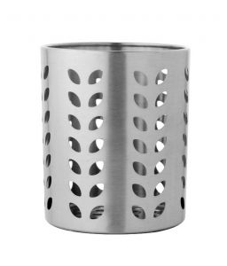 Dynamic Store Stainless Steel Leaf Hole Cutlery Holder - Ds_89
