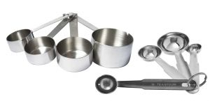 Dynamic Store Set Of 4 Heavy Measuring Cup And 4 Measuring Spoon - Ds_92