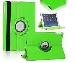 Pu Leather Full 360 Degree Rotating Flip Book Case Cover Stand For Ipad Air 5 (green)
