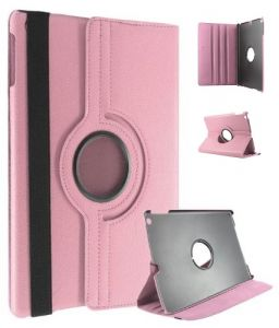 Pu Leather Full 360 Degree Rotating Flip Book Case Cover Stand For Ipad Air 5 (light Pink)