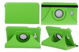 Pu Leather 360 Deg Rotatable Leather Flip Case Cover For Samsung Tab 3 Neo T111 T110 Tablet (green)