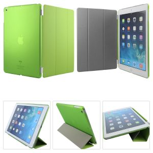 Ultra Thin Magnetic Smart Case Clear Back Cover Stand For Apple Ipad Mini 2 Retina (green)