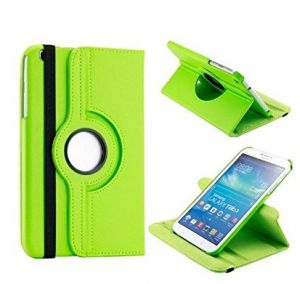 Pu Leather Full 360 Rotating Flip Book Cover Case Stand For Samsung Galaxy Tab 3 T311 (green)