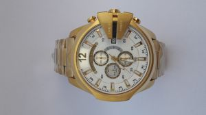 Imported Diesel 10 Bar Golden Watch For Men New Arrival