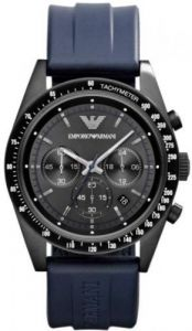 Imported Emporio Armani Ar6113 Blue Rubber Strap Men