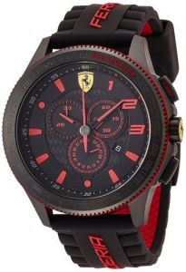Men's Watches   Round Dial - Ferrari Men's 0830138 Scuderia Xx Analog Display Quartz Black Watch