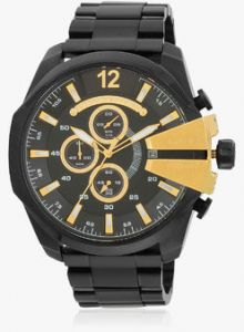 Imported Luxury Diesel Dz 10 Bar Mega Chief Black Chronograph Mens Watch