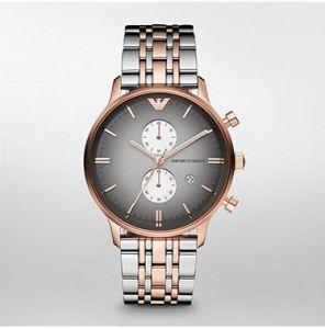 Armani Mens' Watches   Round Dial   Metal Belt   Analog - Armani 1721 Dual Tone Watch For Men