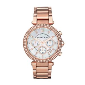 Watches - Michael Kors Women's MK5774 Rose Gold-white tone Chronograph Watch.NEW