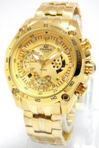 Mens' Watches   Round Dial   Metal Belt   Analog - Imported Casio Edifice 540 full gold watch for men