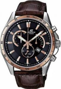 Men's Watches   Round Dial   Leather Belt   Analog - Imported Casio edifice 510 black and copper dial watch for men by DEAL SASTA