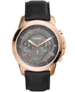 Men's Watches   Round Dial   Leather Belt   Analog - Fossil Grant Analog Grey Dial Men's Watch - Fs5085