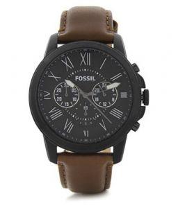 Fossil Grant Black Dial Chronograph