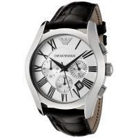 Imported Emporio Armani Ar0669 Black Strap Silver Dial Chronograph Watch